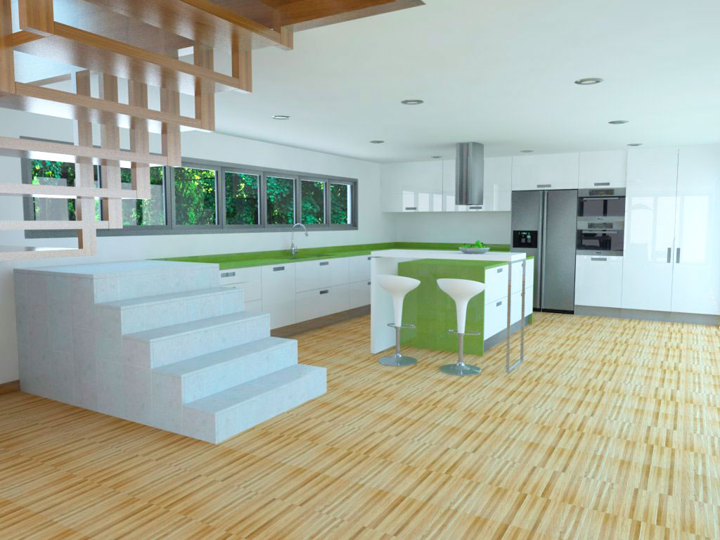 3d-render-cocina-comedor-escalera