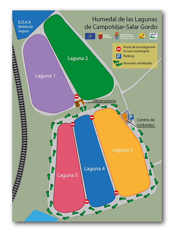Proyecto europeo LIFE. Mapa lagunas.