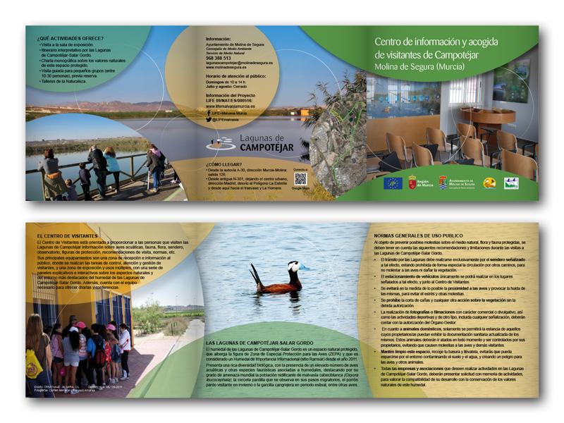 Proyecto europeo LIFE. Tríptico informativo.